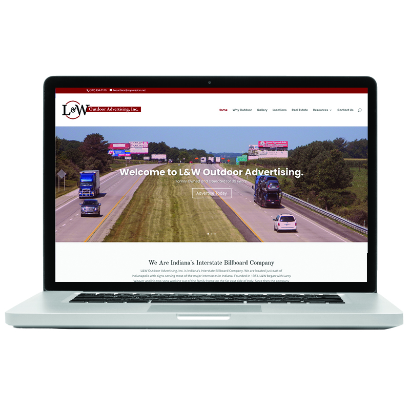 L & W Outdoor Advertising Home Page